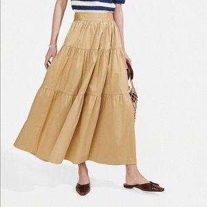 Staud Sea Skirt in Nude Sand